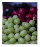 Fruit Mixer Fleece Blanket
