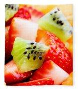 Fruit Salad Macro Fleece Blanket