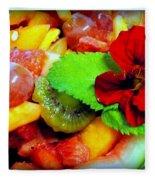 Fruit Salad Fleece Blanket