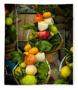 Fruit Stall In Vietnamese Market Fleece Blanket