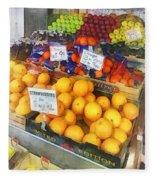 Fruit Stand Hoboken Nj Fleece Blanket