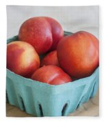 Fruit Stand Nectarines Fleece Blanket