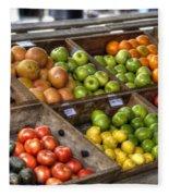 Fruit Stand Fleece Blanket