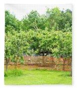 Fruit Trees Fleece Blanket