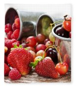 Fruits And Berries Fleece Blanket