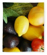 Fruits  And Vegetables  Fleece Blanket