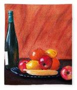 Fruits And Wine Fleece Blanket