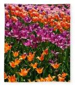 Fruity Tulips Fleece Blanket