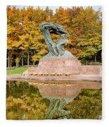 Fryderyk Chopin Statue In Warsaw Fleece Blanket