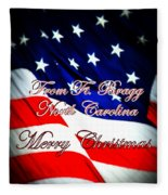 Ft. Bragg - Christmas Fleece Blanket
