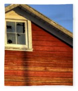 Ft Collins Barn Sunset 2 13508 Fleece Blanket