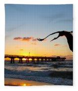 Ft Lauderdale Fishing Pier Fleece Blanket