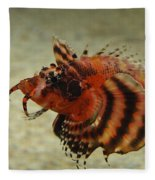 Fu Manchu Lionfish Fleece Blanket