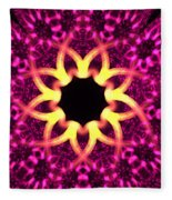 Fuchsia Flowers Fleece Blanket