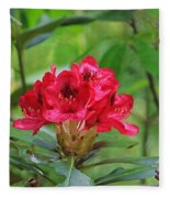 Fuchsia Rhododendron Moore State Park Fleece Blanket