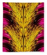 Fuchsia Sensation Abstract Fleece Blanket