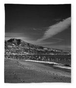 Fuengirola Beach Fleece Blanket