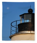 Full Moon At Piney Point Fleece Blanket