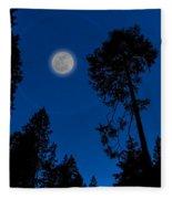 Full Moon In Yosemite Fleece Blanket