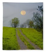 Full Moon On The Rise Fleece Blanket