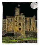 Full Moon Over Medieval Ruins Fleece Blanket