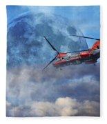 Full Moon Rescue Fleece Blanket