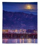 Full Moon Rising #2 Fleece Blanket