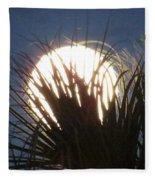 Full Moon Through The Palms Fleece Blanket