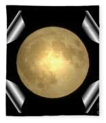 Full Moon Unfolding Fleece Blanket