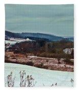 Fulmer Valley In Winter Fleece Blanket