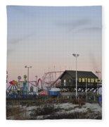 Fun At The Shore Seaside Park New Jersey Fleece Blanket