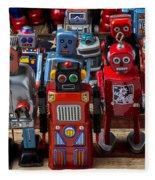 Fun Toy Robots Fleece Blanket