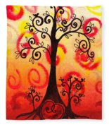Fun Tree Of Life Impression Vi Fleece Blanket
