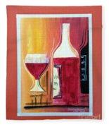 Fun Wine Time Fleece Blanket