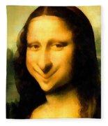 Fun With Mona Lisa Fleece Blanket