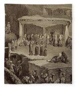 Funeral Ceremony In The Ruins Fleece Blanket