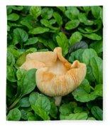 Fungus Among The Ajuga Fleece Blanket