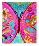 Funky Butterfly Fleece Blanket
