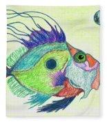 Funky Fish Art - By Sharon Cummings Fleece Blanket