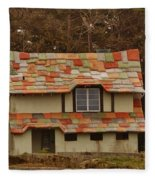 Funky House On 17 Mile Drive Fleece Blanket