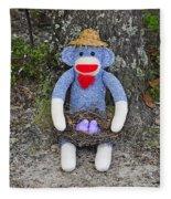 Funky Monkey - Purple Peeps Fleece Blanket
