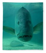 Funny Fish Face Fleece Blanket