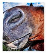 Funny Horse Fleece Blanket
