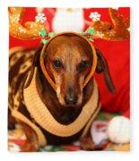 Funny Looking Reindeer Fleece Blanket
