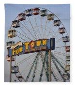Funtown Ferris Wheel Fleece Blanket