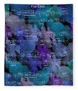 Fur Elise Music Digital Painting Fleece Blanket