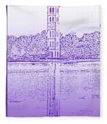 Furman Bell Tower Fleece Blanket