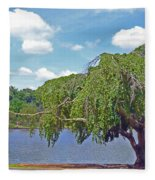 Furman Tree And Tower Fleece Blanket