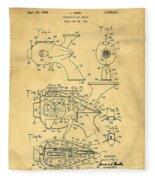Futuristic Toy Gun Weapon Patent Fleece Blanket