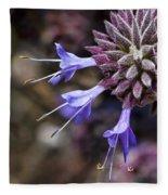 Fuzzy Purple Detail 1 Fleece Blanket